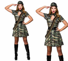 Combat Cutie Costume Ladies Military Army Fancy Dress Hen Night Outfit 6/24