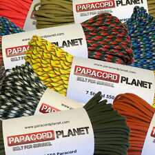 550 7 Strand Type III Mil-Spec Survival Paracord - 10', 25', 50', 100'