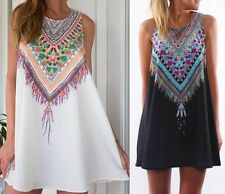 2015 Lady Summer Casual Dress Maxi Party Evening Mini tops Dress Beach Floral