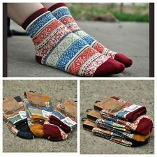 3 Pairs Lot 3 Color Men Women Cotton Socks Vintage Bohemia Crew Socks 2 Sizes