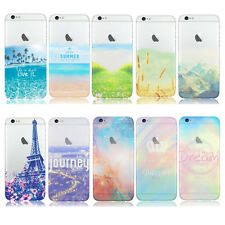 Housse étui coque silicone case cover gel protecteur motif divers iPhone 6 6Plus