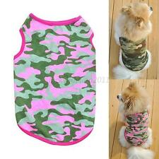 Lovely Pet Dog Cat Apparel Camouflage Vest T-shirt Puppy Summer Clothes XS-L L11