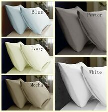 2PC 900TC 100% Pure Cotton Standard Size Pillowcases in Pair 5 Colors
