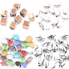 Wholesale 20Pcs Silver Gold Plated Crystal Glass Loose Charm Spacer Bead Crafts