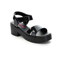 C LABEL MADISON-5 Women's Jelly Ankle Strap Chunky Heel Summer Sandals