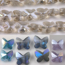 Wholesale 10/20Pcs Glass Crytal Butterfly Spacer Finding Charms Beads DIY 8x5mm