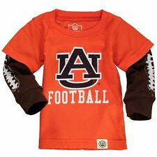 Infant Wes & Willy Orange Auburn Tigers Football Fooler Long Sleeve T-Shirt