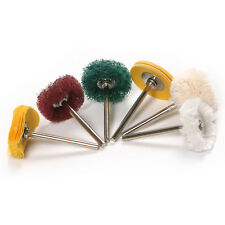 "10pc Mini Polishing 1"" Abrasive Buffing Pad Brushes For Dremel Rotary Tools"