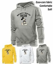 Unisex Mens Womens Cute Cartoon Disney Mickey Mouse 1928 Sweatshirt Hoodie Tops