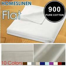 Comfortable Egyptian Cotton King/Queen Size Bed 900+ Flat Top Sheet