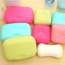Home Bathroom Travel Soap Shower Box Dish Plate Holder Case Container Set