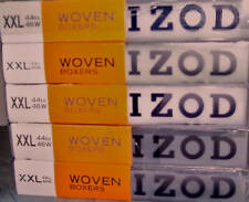 MEN'S UNDERWEAR IZOD WOVEN BOXERS 3-PACK SIZE XXL 2X NEW IN PACKAGE