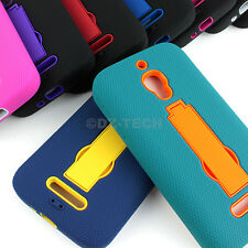 For Alcatel One Touch Fierce 7024W Rugged Impact Hybrid Hard Case Cover Stand
