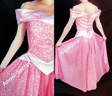 PP340 COSPLAY Dress Princess sleeping beauty pink Costume Aurora  adult park