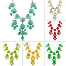colorful woman bubble bib statement necklace charm beaded necklace wedding N203