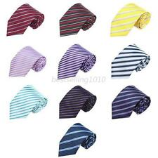 10 Colors Classic Casual Striped 100% Silk Jacquard Woven Necktie Men's Tie B15