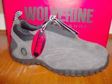 NIB Womens Wolverine Steel Toe Slip On Shoe Szs 5-6 #4546 Grey