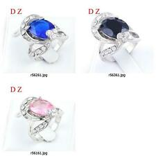 r561m62 Size Pick Women's Engagement Round Gemstone Zircon CZ Diamante Ring Gift