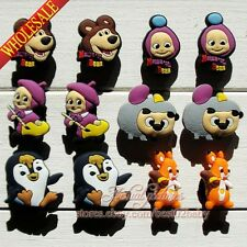 24pcs Masha and bear shoe charms shoe accessories Kids best gift Party Favor
