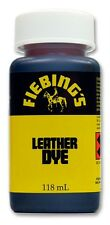 FIEBINGS 4 oz.  BOTTLE W/ DAUBER LEATHER DYE SADDLE S & CRAFTS BROWN OR BLACK