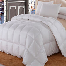 Dobby Checkered Goose Down Comforter 650 Fill Power 300 Thread Count Four Season