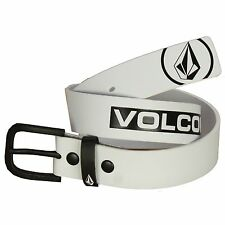 Volcom Buckle Belt ~ Redux White