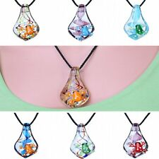 Frog Handmade Gold Dust Bead Fashion Necklace Lampwork Glass Pendant Attractive