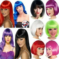 SHORT BOB LADY FANCY DRESS PARTY WIG LONG STRAIGHT CURLY ANIME COSPLAY FULL WIGS