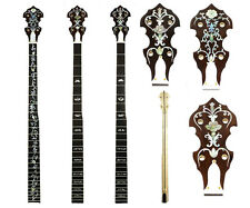 5 String Banjo Long Neck Maple MOP & Abalone Inlay Left Hand LBN