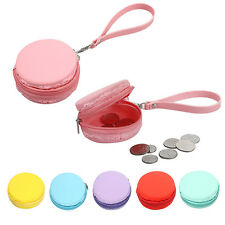 Cute Women Macaron Silicone Waterproof Coin Bag Pouch Purse Wallet Pure Color