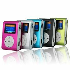 Music Media MP3 Player LCD Screen Support Clip Micro SD TF Card Up to 32GB
