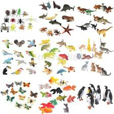 HOT! Lot Plastic Zoo Jungle Wild Animals Insects Model Kids Toy Gift Party Bag