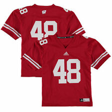 No. 48 Wisconsin Badgers adidas Youth Replica Football Jersey - Red - College