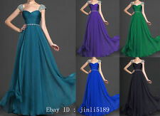 New Long Formal Prom Bridesmaid Dress Evening Party Ball Gown SZ 6 8 10 12 14 16