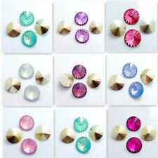 Hot 50PCS Resin Rhinestones Rivoli Beads 14mm Multicolor Wholesale