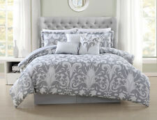 7 Piece Allure Metallic/White Comforter Set