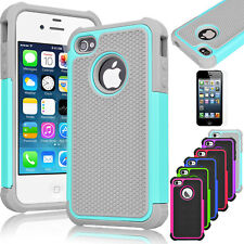 Shock proof Rubber Matte Hard Case Cover For Apple iPhone 5 5S Screen Protector