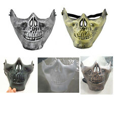 1PC Skull Skeleton Airsoft Game Hunting Biker Half Face Protect Gear Mask Guard
