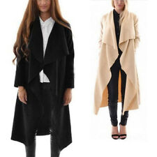 Women Irregular Coat Windbreaker Waterfall Open Cape Jacket Outwear Top Cardigan