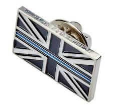 Thin Blue Line Union Jack UK GB Domed Pin / Brooch Badge Police