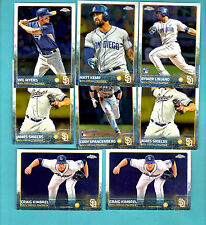 2015 Topps Chrome Baseball - San Diego Padres  - Lot of 8 cards