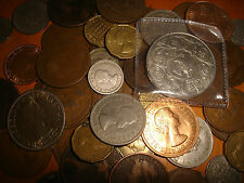 50 Old English Coins Crowns half crowns Farthings.sixpences pennys three-pences
