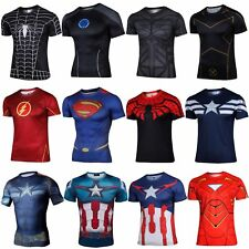Superhero Marvel Comics Costume Cycling T-Shirts Short Sleeve Bicycle Jersey