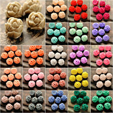Resin Flowers Beads Fit Cabochons Settings 9.5x9 Flatback Cameo Wholesale RB0741