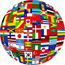 Various Flags Of The World. 50+ Country & UK Counties, Euro Etc. 5ft by 3ft