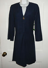 NWT LILLY PULITZER TRUE NAVY VALETTA  DRESS M L