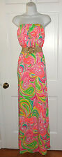 NWT LILLY PULITZER MULTI ALL NIGHTER MARLISA MAXI DRESS L XL