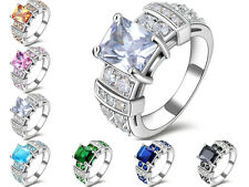 Size 6,7,8,9,10 Emerald Topaz 10KT Gold Filled Fashion Women's Anniversary Rings