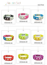 Free DHL 200Pcs 21CM Silicone Wristbands Bracelets For Adult toy Mixed 14 Colors
