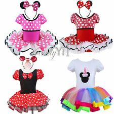 Baby Girl Toddler Minnie Mouse Party Costume Ballet Tutu Dress Christmas Clothes